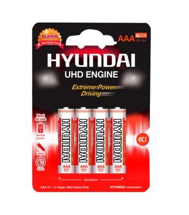 باتری کربن هیوندای نیم قلم چهارتایی کارتی مدل R03