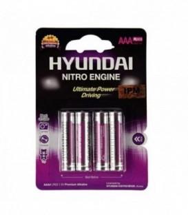 باتری آلکالاین نیترو هیوندای نیم قلم چهار تایی سوپرآلکالاین مدل LR03